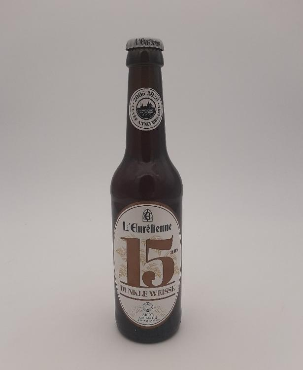 """Bière L'Eurélienne """"15 ANS"""" 33cl"""
