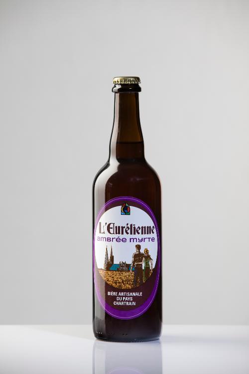 Bière L'Eurélienne AMBREE MYRTE 75cl