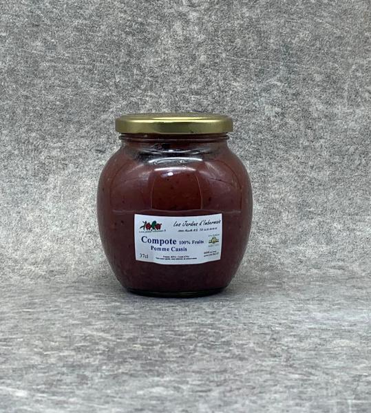 Compote de Pomme-Cassis 100% Fruits 37cl