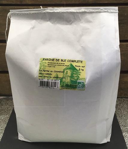 Farine de Blé Compléte T110 BIO 5 kg