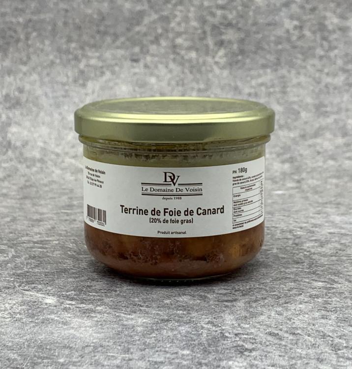 Terrine de Foie de Canard 20% Foie Gras 180g