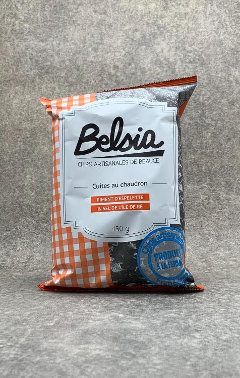 Chips Belsia au Piment d'Espelette 150g
