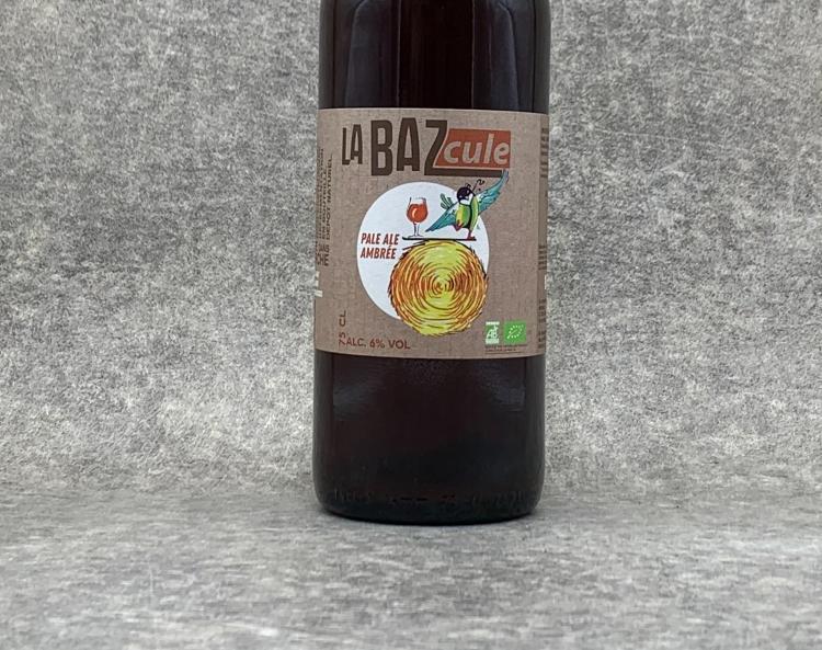 Bière Bio Ambrée, La BAZ'cule 75cl