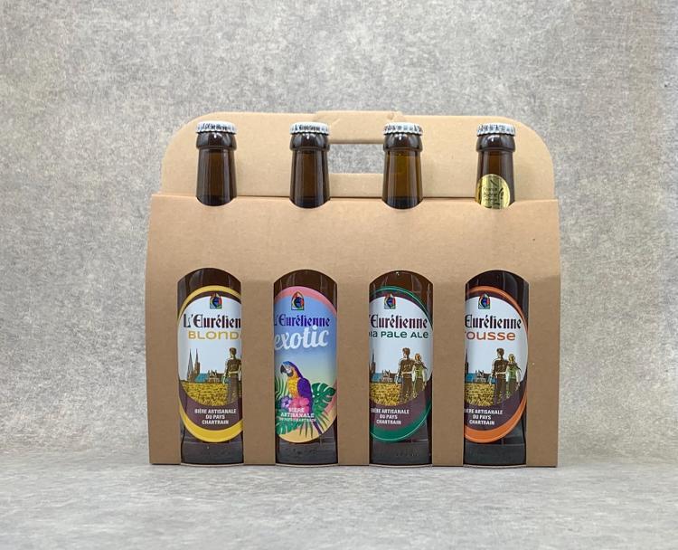 Coffret 4 Bières Eurélienne 33 cl