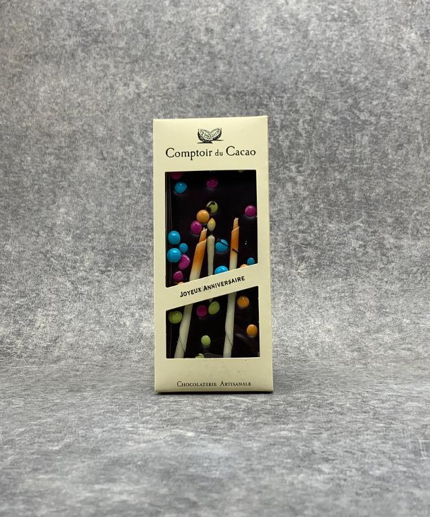 Tablette Noire Joyeux Anniversaire 90g