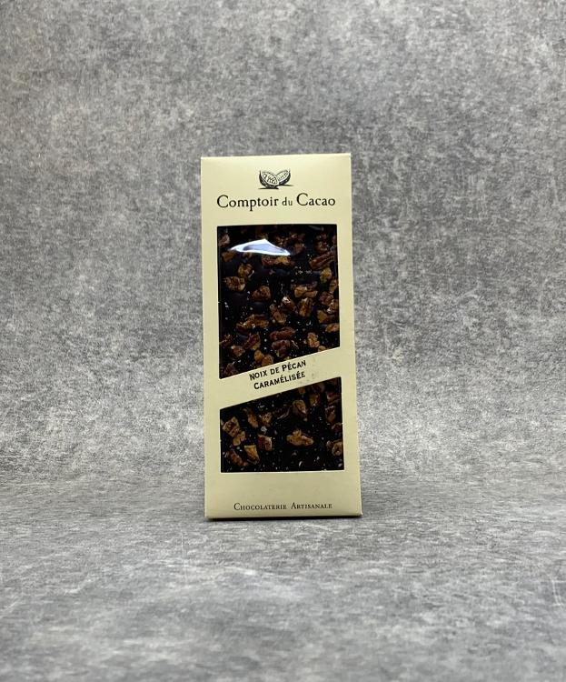 Tablette Noire Noix de Pécan Caramélisée 90g