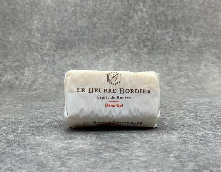Beurre de Baratte Bordier demi-sel 125gr