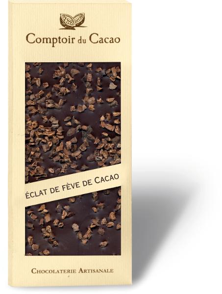Tablette Noire Fève de cacao 90g
