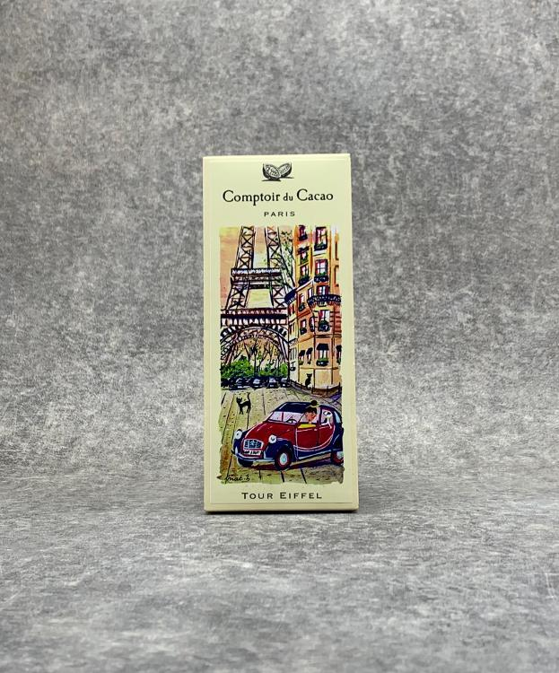 Tablette Noire Tour Eiffel chocolat 80g