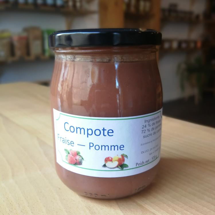 Compote fraise pomme 530g