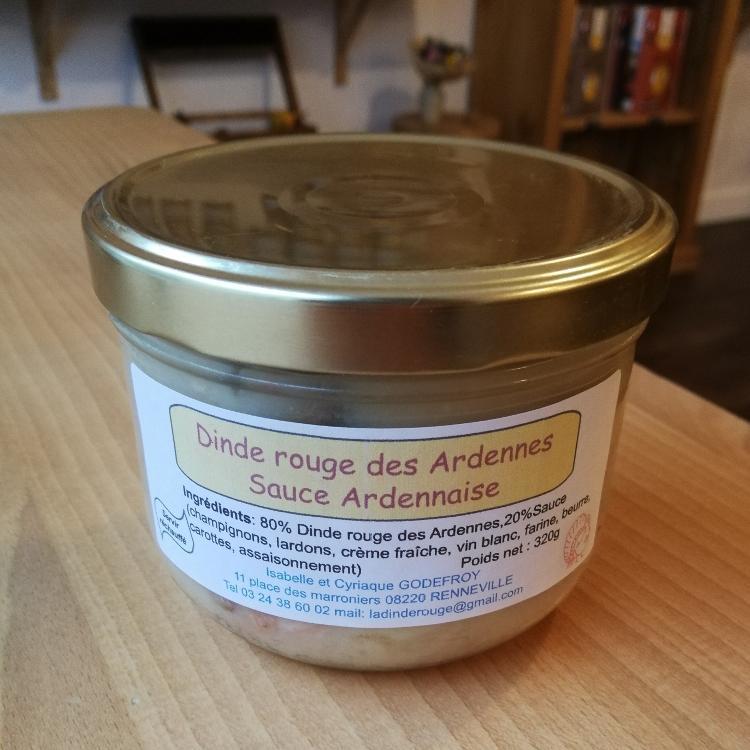 Dinde rouge à la sauce Ardennaise 320g
