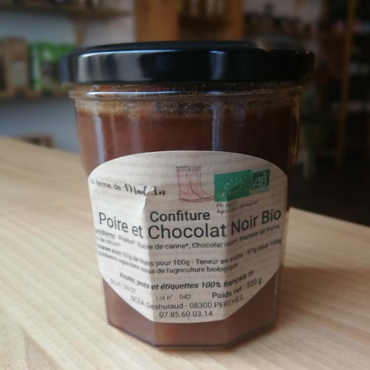 Confiture poire chocolat bio 320g