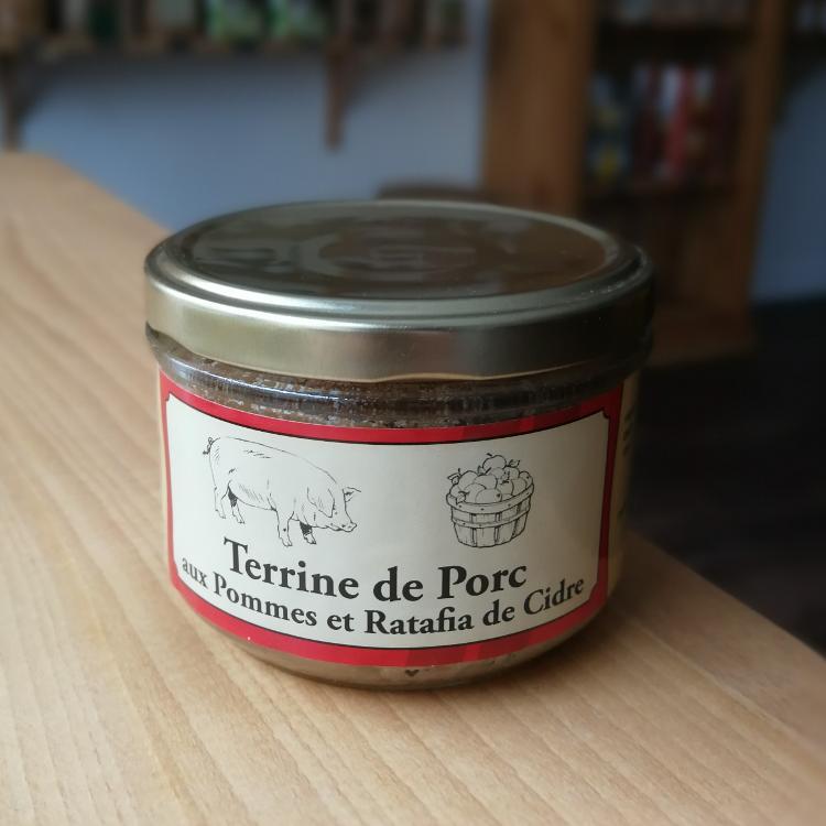 Terrine de porc aux pommes et au Ratafia de Cidre 180g