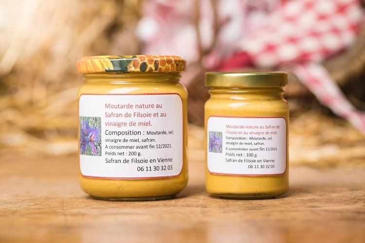 Moutarde Nature au Safran - 100gr