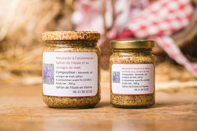 Moutarde à l'Ancienne au Safran - 200gr
