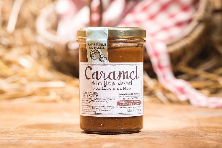 Caramel à la fleur de sel aux éclats de noix - 225g
