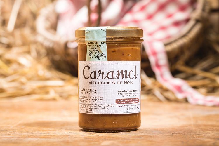 Caramel aux éclats de noix - 225g