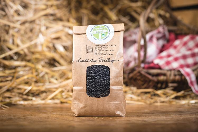 Lentilles noires (Belluga) - 1 KG