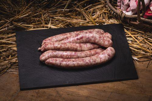 Saucisse de porc bio (entre 300g et 450g) (*5)