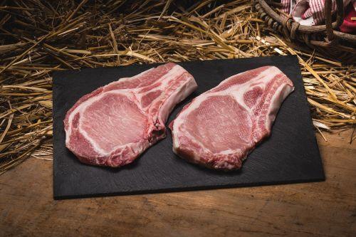Côte de porc bio (entre 500g et 750g) (*2)