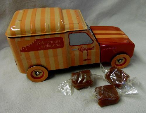Boîte Métal 4l Garnie De 200g De Caramels Tendres