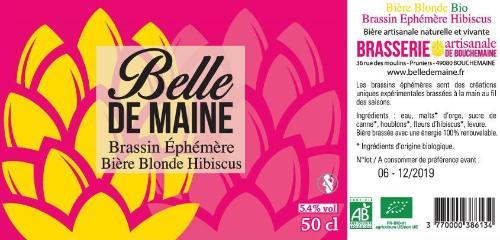 Bière Blonde HIBISCUS Belle de Maine