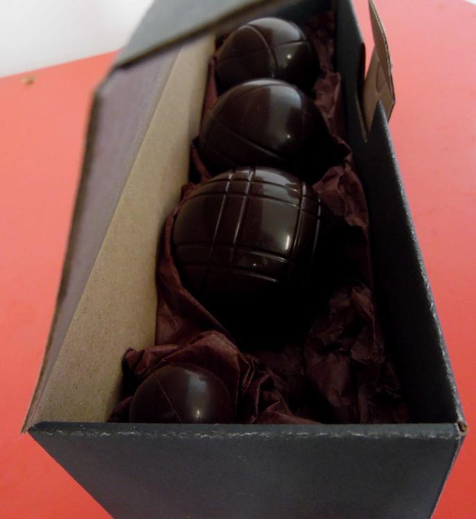 Triplette en chocolat noir