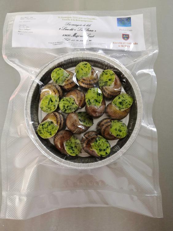 Coquille d'escargots à la Bourguignonne