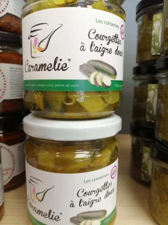 150g pickles courgette aigre doux CARAMELIE