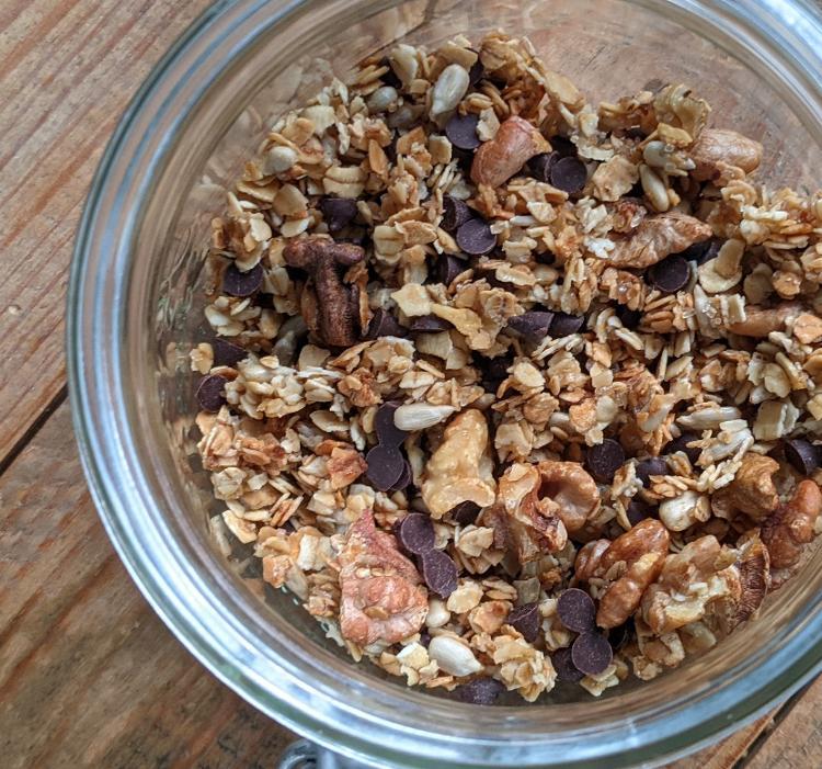Granola noix et pépites de chocolat - sachet de 200g