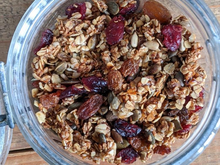 Granola fruits et graines de courge - sachet de 100g