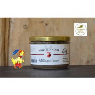 Rillettes pur canard Famille MAUDET-COUSIN