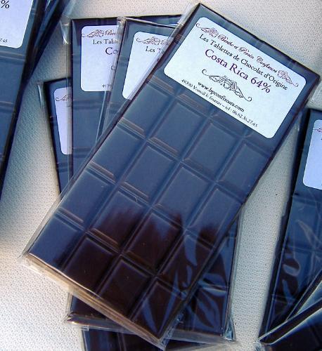 Tablette Chocolat noir du Costa Rica 64% de cacao