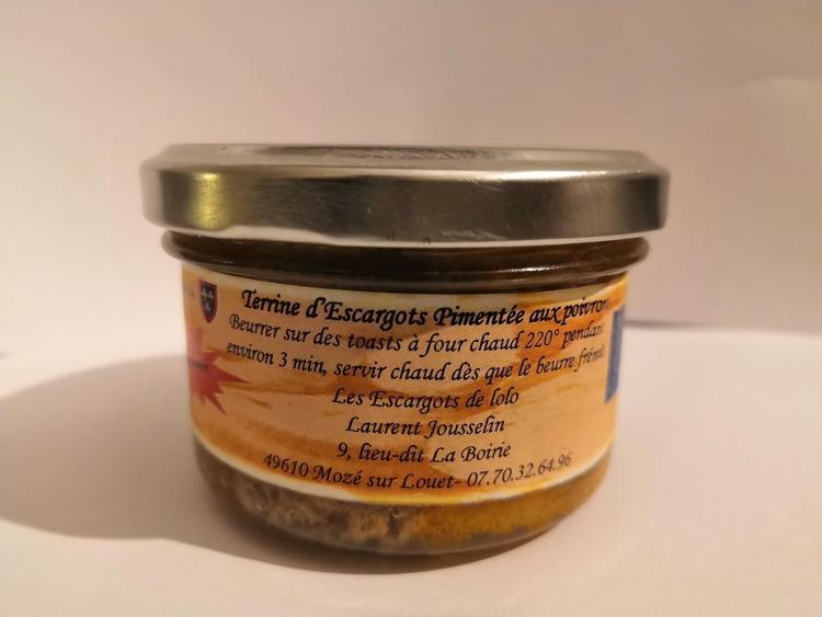 Terrine d'escargots pimentée aux poivrons