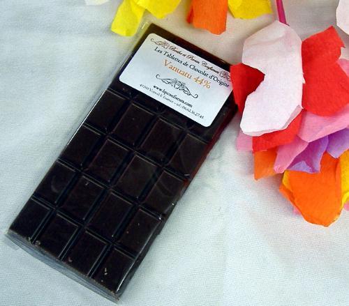 Tablette Chocolat lait du Vanuatu 44% de cacao