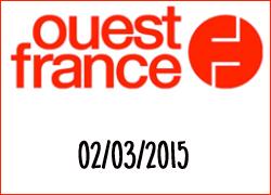 Ouest-France, article pour notre crème chocolat médaillée