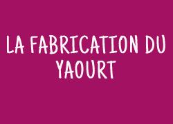 La fabrication du yaourt