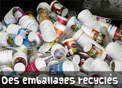 Des emballages recyclés