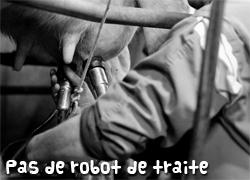 Pas de robot de traite