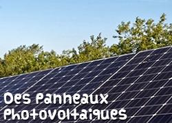 Des panneaux photovoltaïques