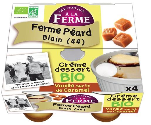 Crème dessert VANILLE SUR LIT CARAMEL - 4x100g