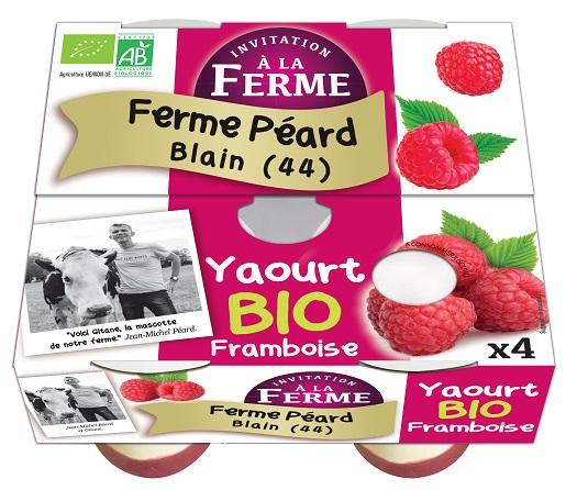 Yaourt brassé sur lit FRAMBOISES - 4x125g