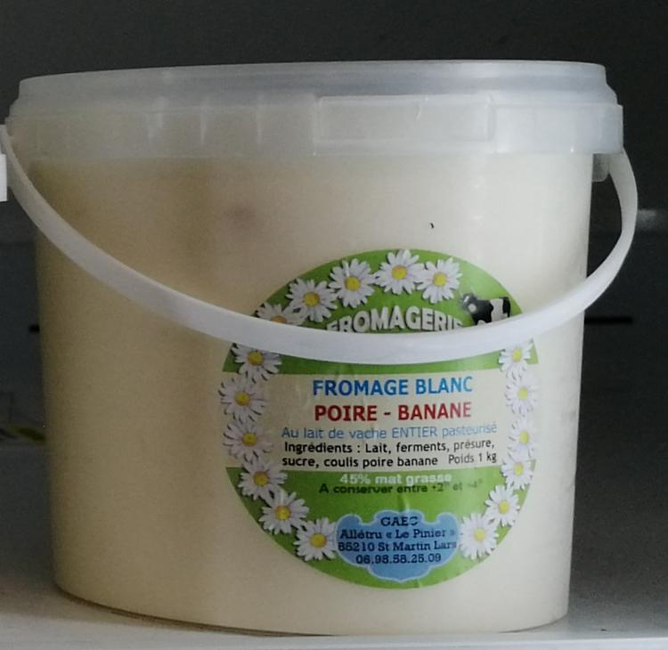 FROMAGE BLANC POIRE BANANE