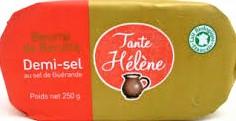 Beurre de Baratte DEMI-SEL bio Certifié Ecocert 250g (Attention, 55 plaquettes disponibles !)