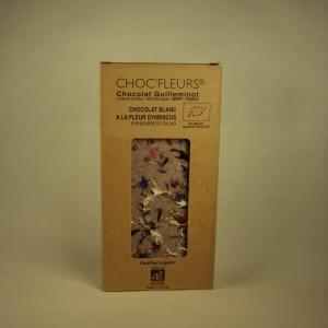 Chocolat Blanc Hibiscus 100g