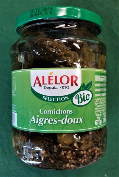 Cornichons AIGRES-DOUX  (Certification Ecocert) 720 ml