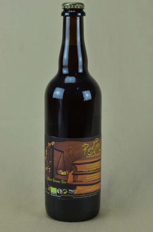 Bière artisanale Brune  REGAL'POTES 75cl
