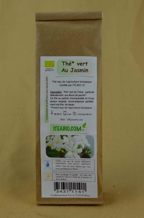 Thé vert Fleurs de Jasmin 100g