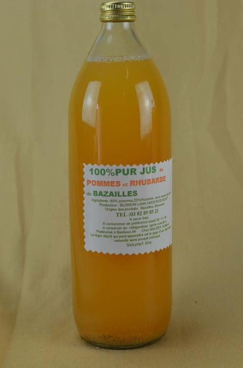 Jus de Pommes/Rhubarbe (+ consigne 15 cts)