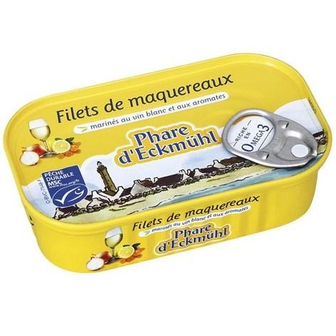 Filets de Maquereaux au vin blanc et aux aromates, Phare d'Eckmühl. 118g